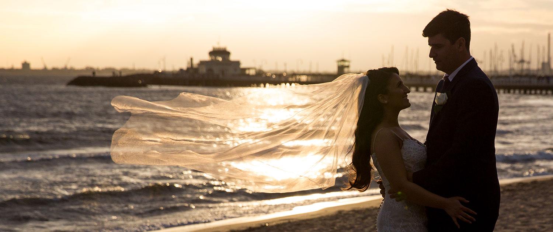 Encore St Kilda Beach Bride and Groom