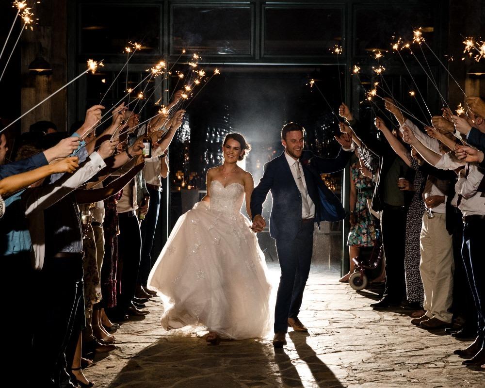 Flowerdale Estate - Bride and Groom sparkler exit