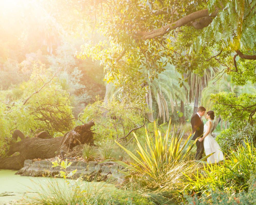 Botanical Gardens - Couple at sunset