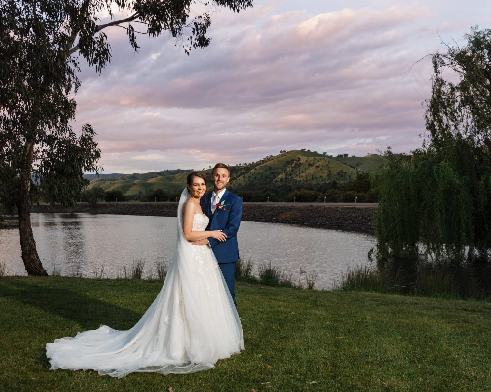 Flowerdale Estate - Bride and Groom at sunset