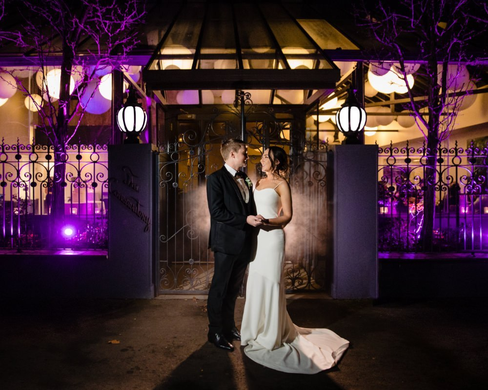 St Andrews Hotel Fitzroy - Bride and Groom at night