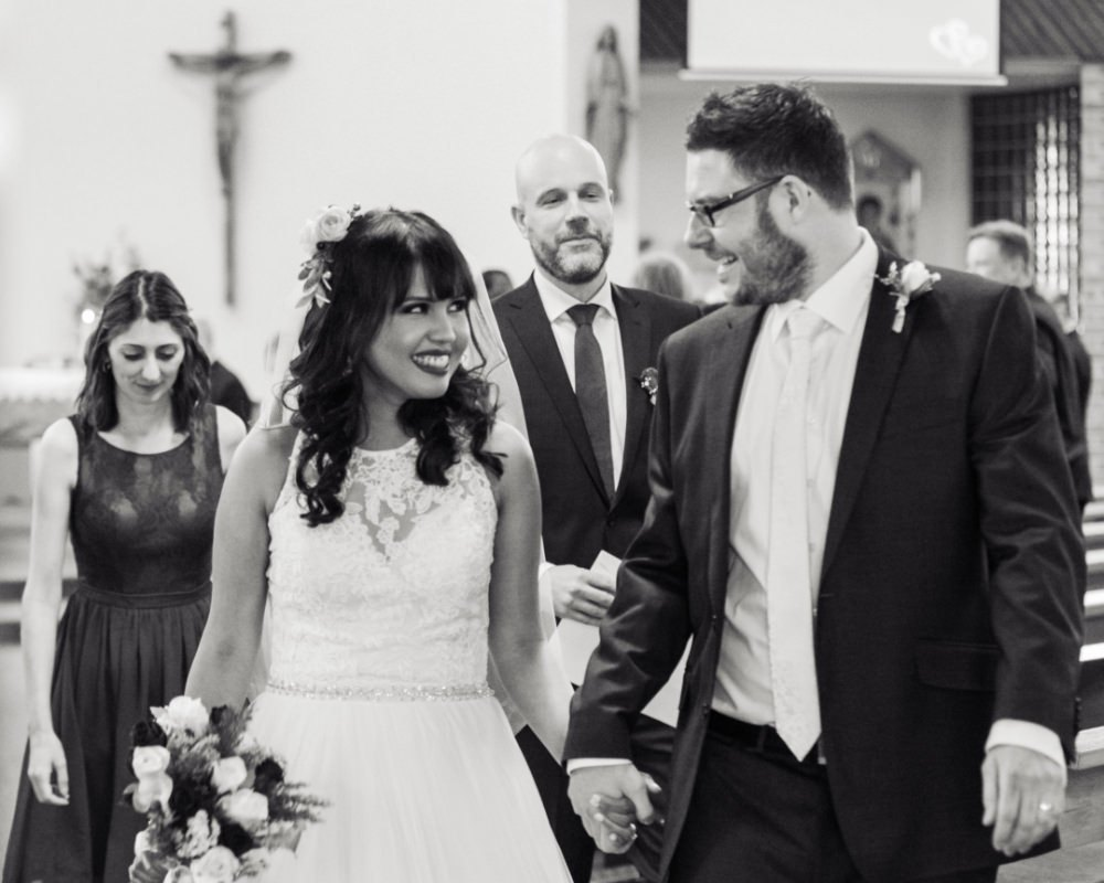 St John Vianneys Catholic church - Just married