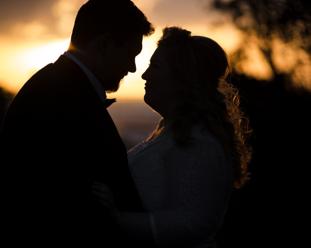 Sandy By The Bay - Bride and Groom at sunset