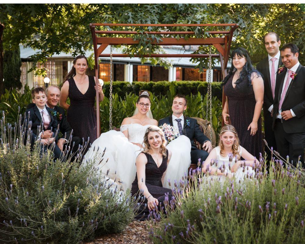 Marybrooke Manor - Bridal party on swing
