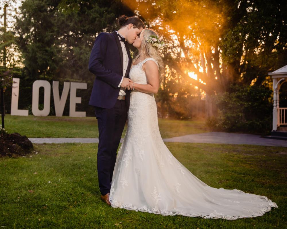 LOVE - Bride and Groom sunset portraits