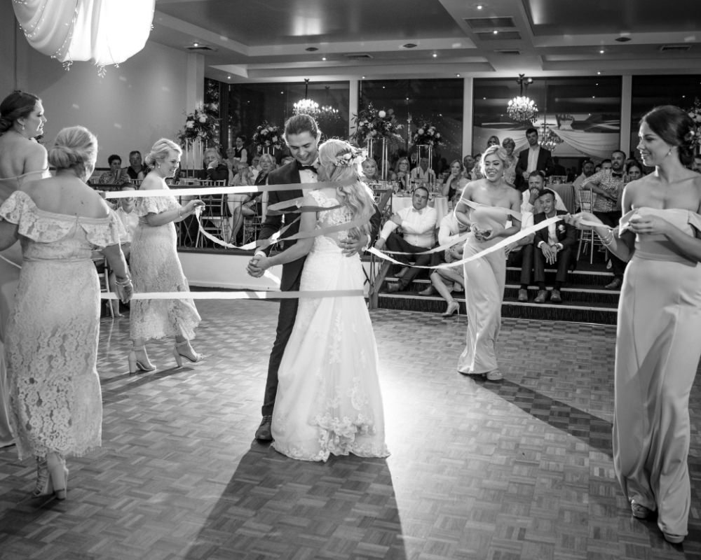 Ribbon dance with bridal party