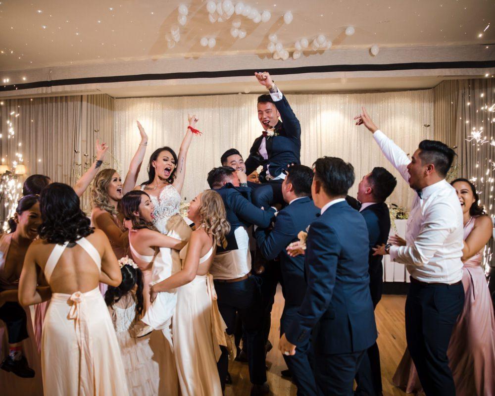 Brighton Receptions - Bride and Groom celebrating