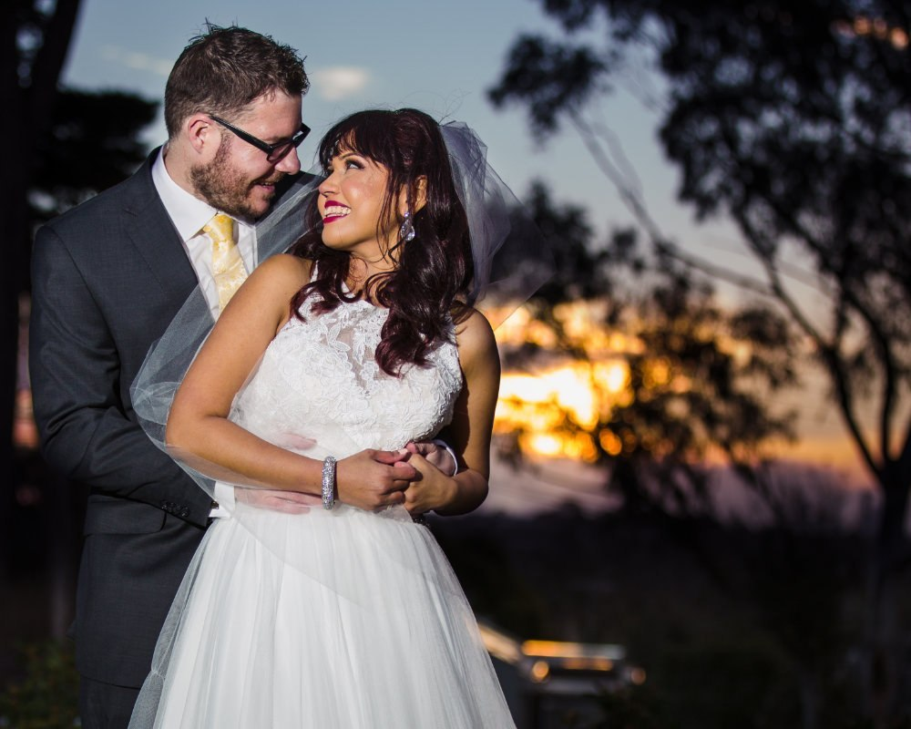 Riversdale Golf Club - Bride and Groom at sunset