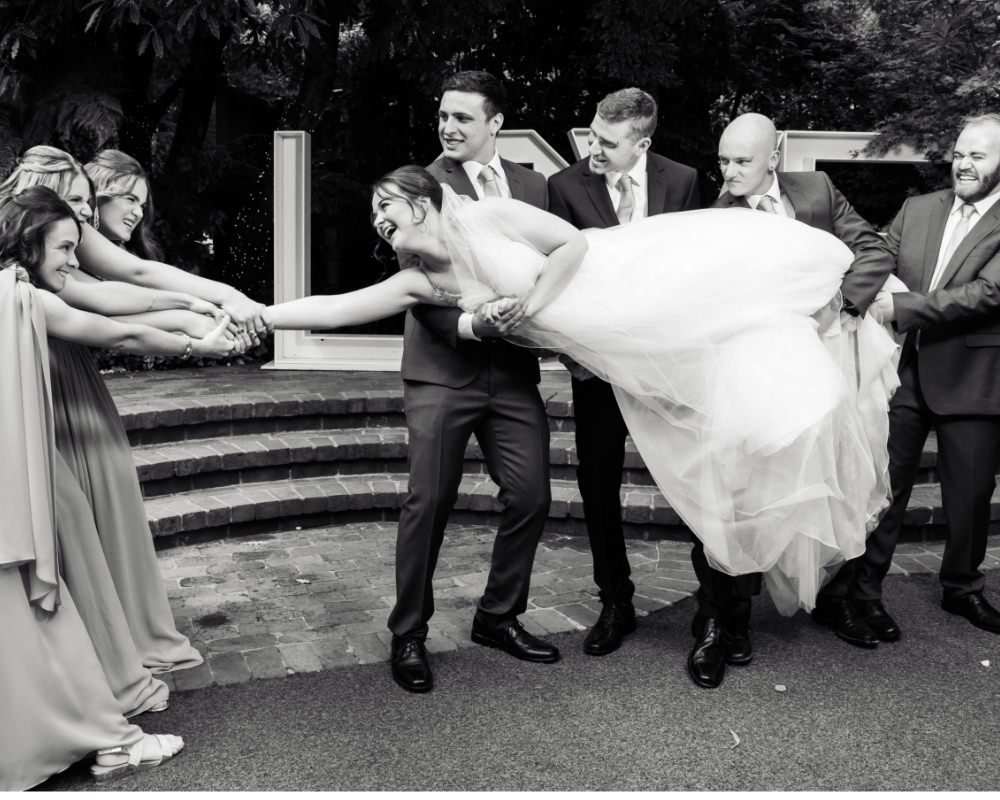 Lyrebird Falls - Bridal tug of war