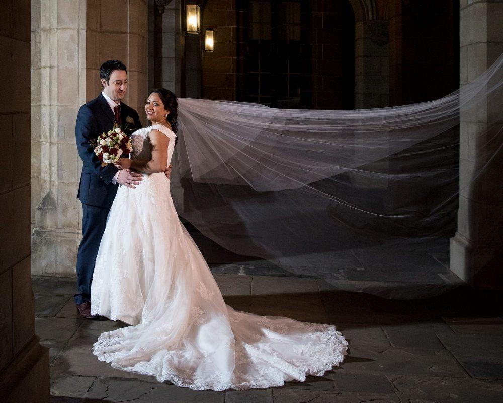 Melbourne University - Bride and Groom in Corridors