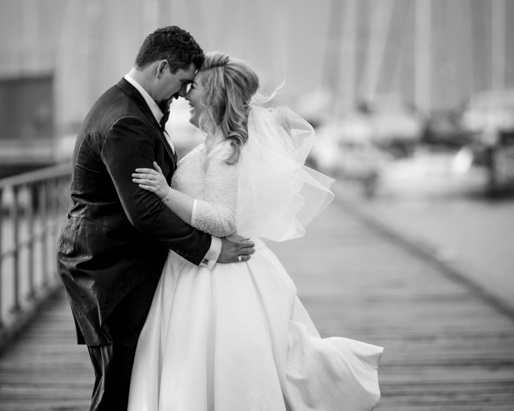 Sandy By The Bay - Bride and Groom on the pier