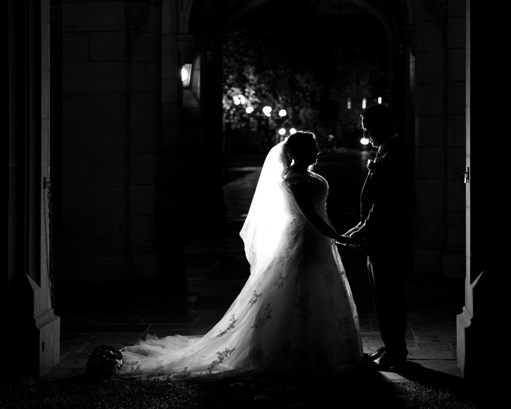 Melbourne University - Bride and Groom silhouette