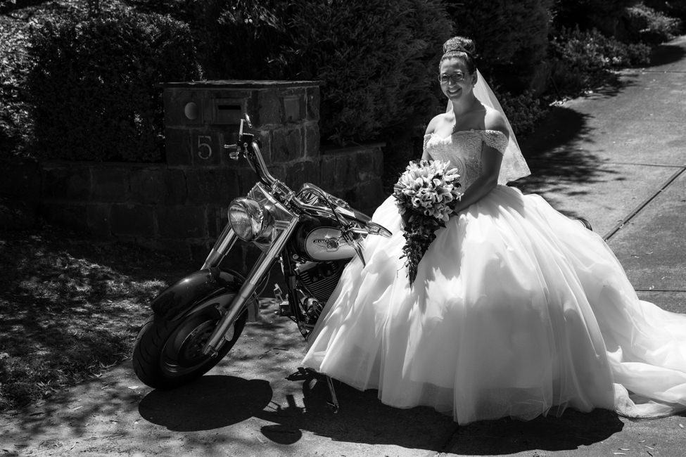 Bride on Harley