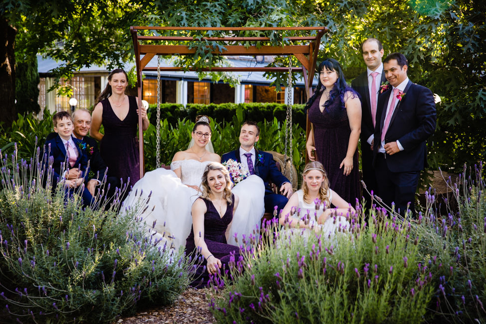 Alexandra and Jonathan's with their bridal party
