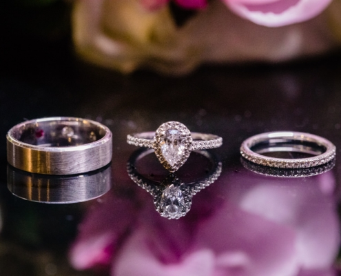 Jess and Josh's rings