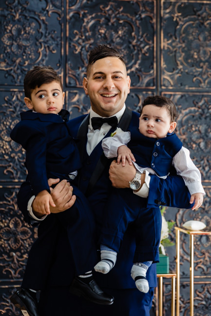 Groom with his pageboys