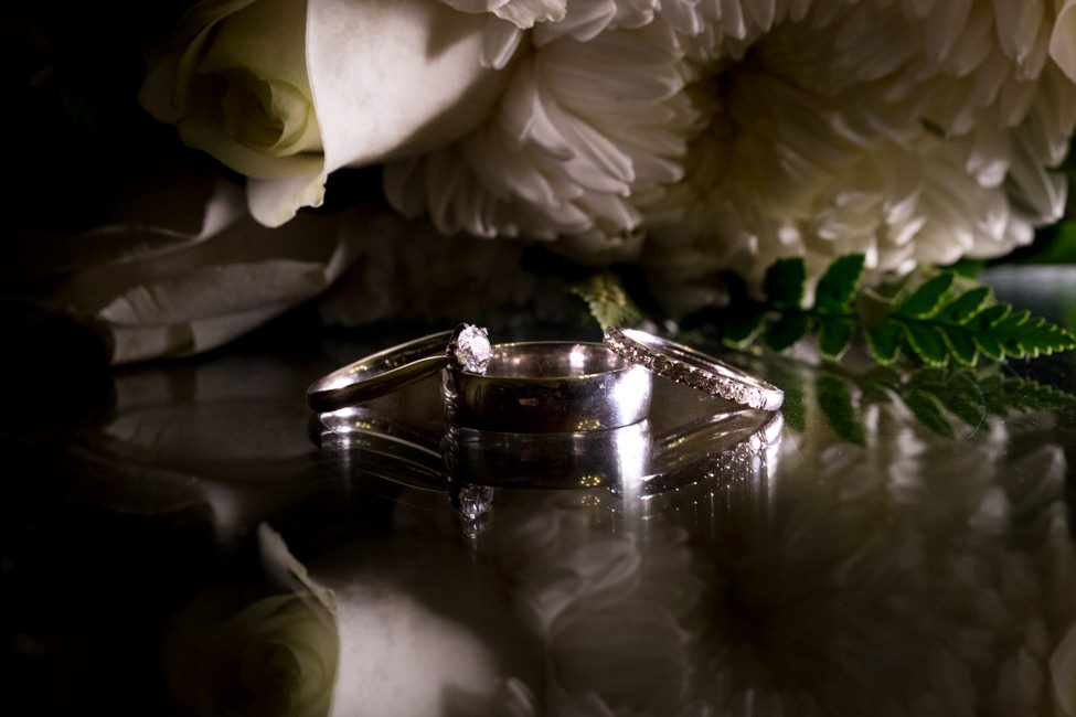 Jessica and Bodie's wedding rings