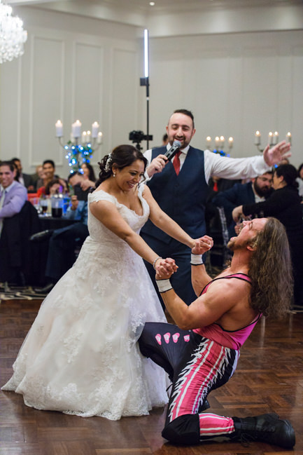 Rachel and Michael's champions wrestler