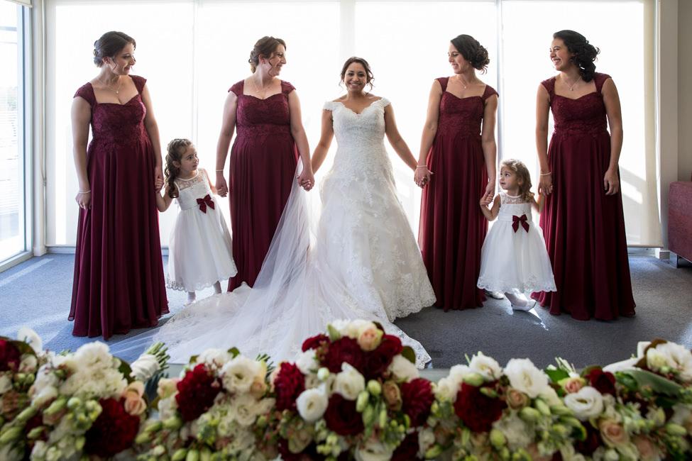 Rachel with her Bridesmaids