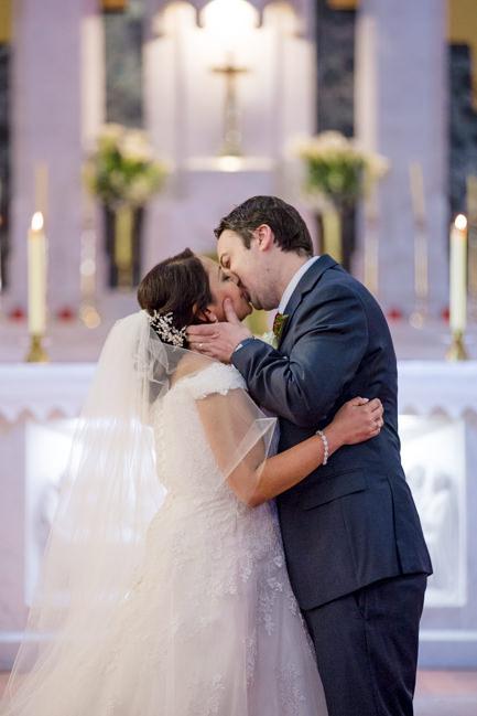 Rachel and Michael's first kiss