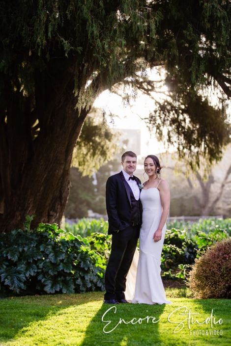 Bride and Groom at Carlton Gardens