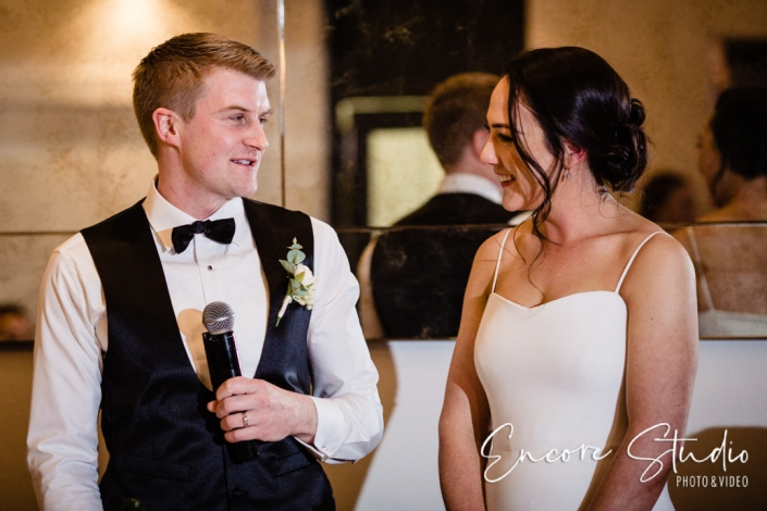 Bride and Groom's speeches